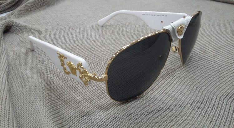occhiale sole versace bianco