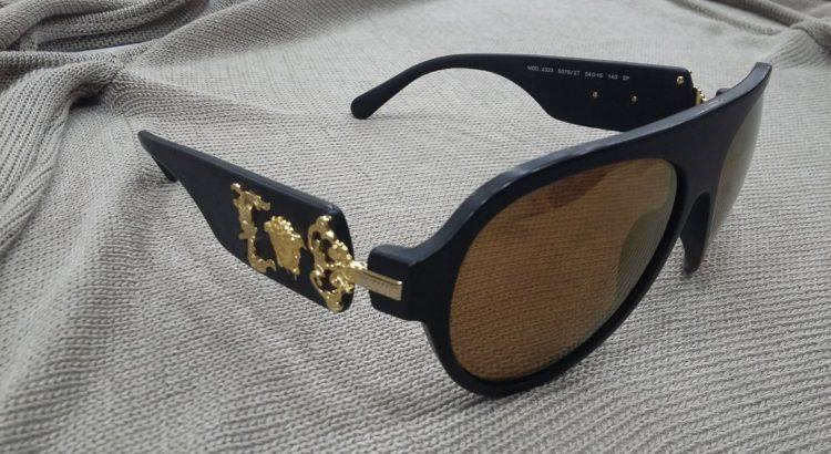 occhiale sole versace montatura nero