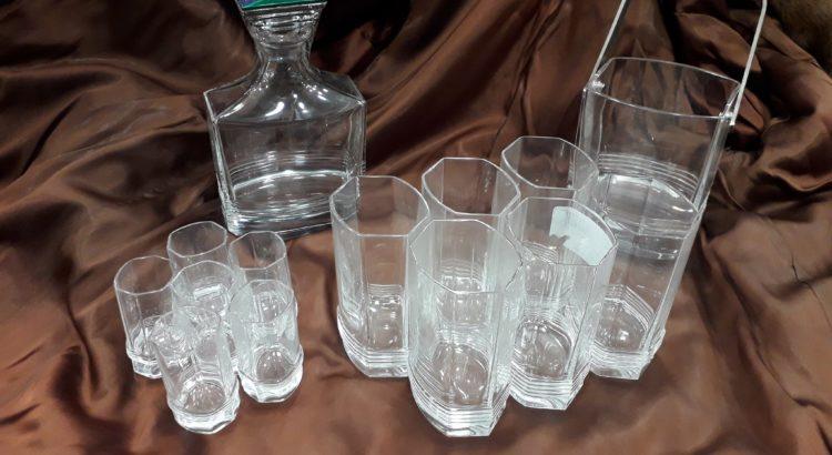 servizio bottiglia bicchieri dior