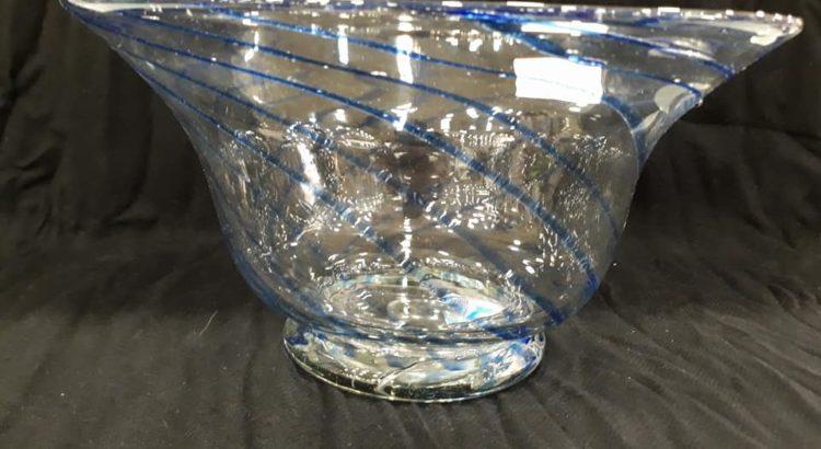 vaso vetro salviati nastri blu orizzontali 2