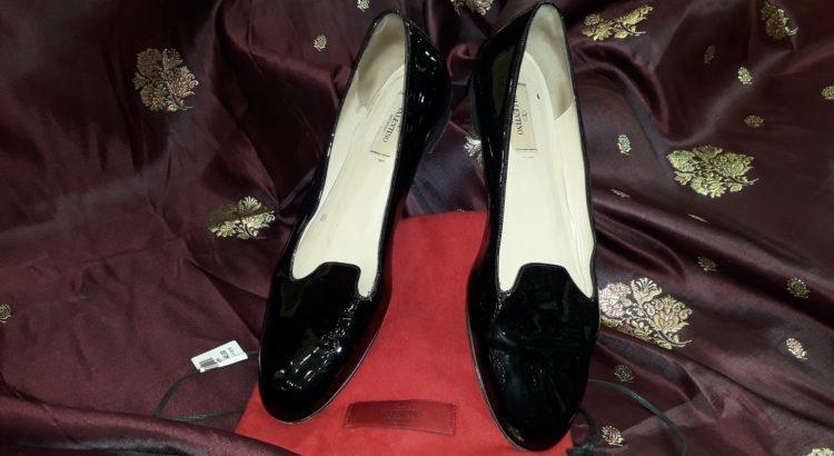 scarpe valentino nero lucido