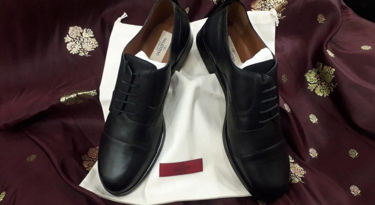 scarpe valentino pelle nera