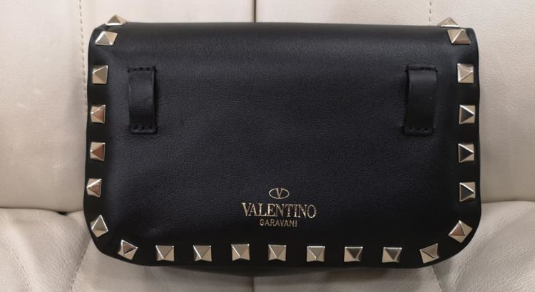 borsa tracolla valentino garavina pelle nera